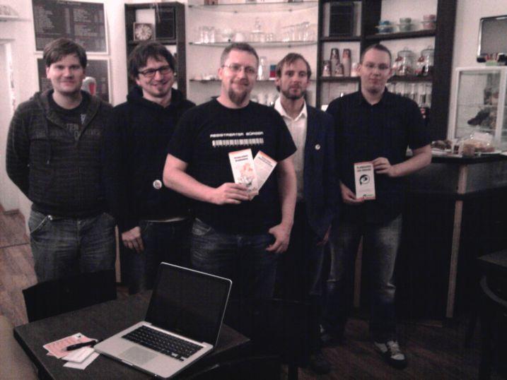 vrnl. Christoph Brückmann, Lutz Hohle, Michael Hensel, Tobias Kriesel, Tobias König